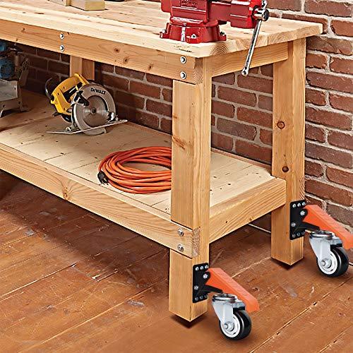 Ronlap Workbench Casters Kit 880 Lbs Capacity, 3