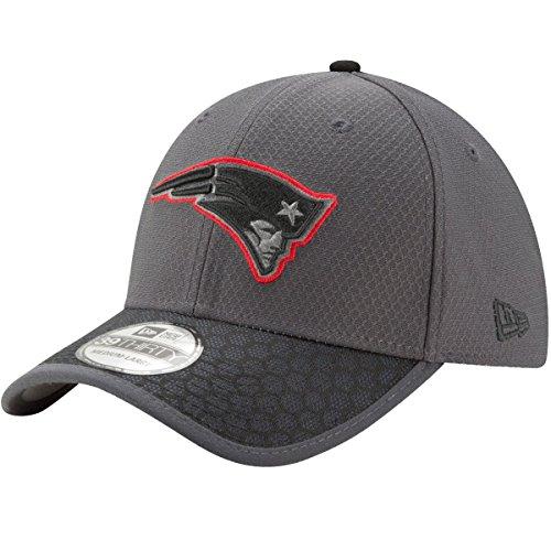 New Era Herren NFL17 3930 SL NEEPAT GPH BLK Cap, DK Grey, SM-54,9-57,7cm (M)
