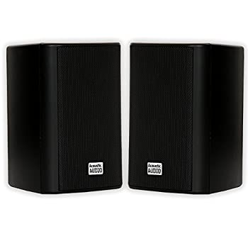 Acoustic Audio by Goldwood AA351B 2 Way High Performance Indoor Outdoor 500W Speakers with Powerful Bass  1 Pair Black