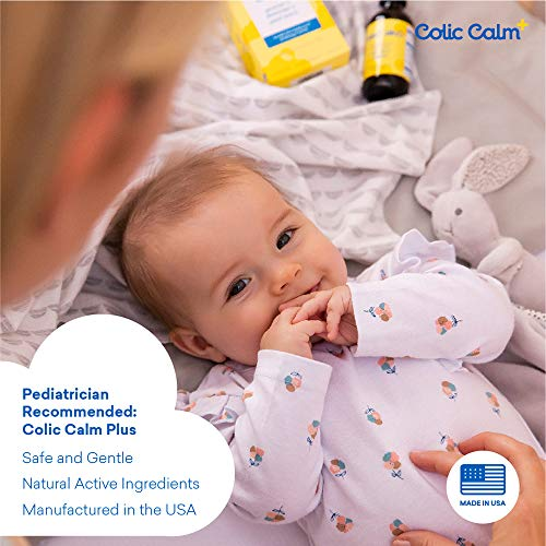 Colic Calm Plus Homeopathic Gripe Water - 2 Fl. Oz. - Professional Strength Colic & Infant Gas Relief Drops - Helps Soothe Baby Gas, Colic, Upset Stomach, Reflux, Hiccups - Made in The USA