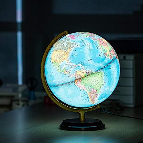 Piner LED-lichtbol Driedimensionale verlichting Metalen beugel Diameter 25 cm Chinese en Engelse versie Onderwijsleerbol