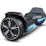 """GYROOR Hoverboard Offroad Hoverboard for Kids Adults 6.5"""" SUV Self Balancing Electric Scooter with Bluetooth Music Speaker and LED Lights UL2272 Certified Bear 20-120kg 600W Black - Best Reviews Guide"""