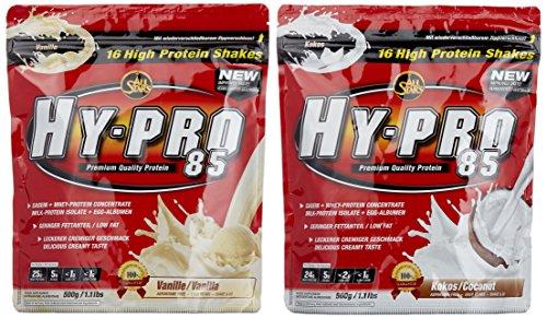 All stars Hy-Pro 85 Beutel 2er Mix Pack (2 x 500 g) Vanille/Cocos, 1er Pack (1 x 1 kg)
