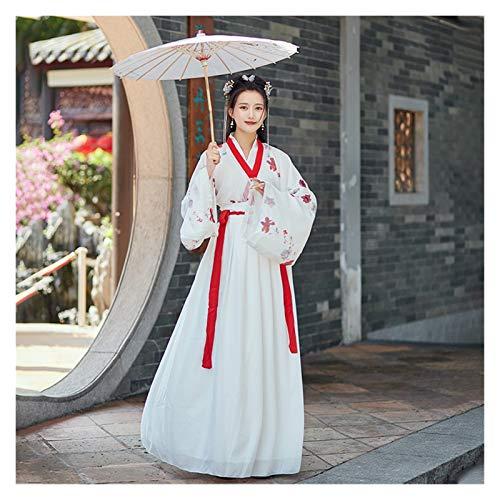 YUNGYE Hanfu - Disfraz de hada chino, estilo sper hada, elegante, mejorado, diseo de hada, manga ancha, primavera y verano (color, tamao: XL)