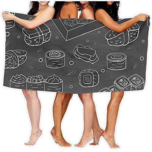 professionnel comparateur chillChur-DD Collection de serviettes de bain Sushi, serviettes de bain noires, maison, entreprise, douche,… choix