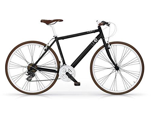 MBM Life, Bicicletta Ibrida Uomo, Nero A01, 50