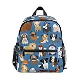 Aflyko Puppy Blue Cute Kids Backpack Daycare Bookbag Kindergarten Daypack for Toddler Girls and Boys 10' × 4' × 12'
