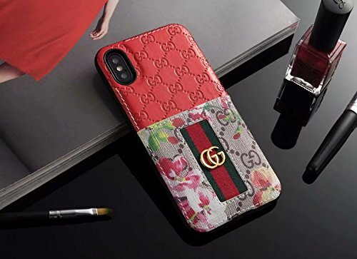 iPhone Xr Case (US-Fast Deliver), Fashion Shock Protection Vintage Case with Slot for Cards Elengant Luxury Monogram Case for iPhone Xr