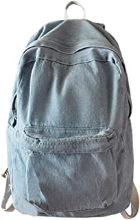 College School Bags Backpacks Girls Denim Cute Bookbags Student Backpack School Laptop Backpack Bag Pack Super Cute for School for Teenage (Light Blue)
