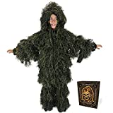Arcturus Ghost Kids Ghillie Suit - Super-Dense, Double-Stitched Design | Advanced 3D Hunting or Airsoft Gear for Kids
