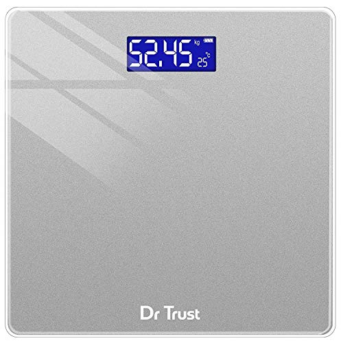 Dr Trust (USA) Elegance Personal Digital Electronic Body Weight Machine for Human Body 180kg Capacity Weighing Scale - 514 (Grey)