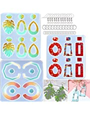 FRTUI Resin Molds,Earring Epoxy Resin Molds, Bohemian Drop Dangle Resin Earring Molds,Earring Molds for Jewelry Silicone Molds