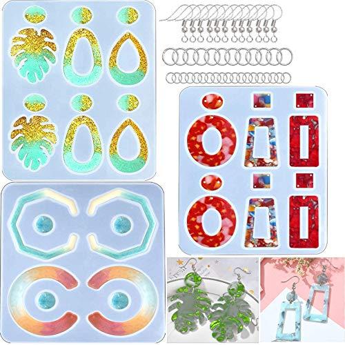 Haudang Moldes de resina epoxi para pendientes de gota de Bohemian Drop Dangle de resina para crear joyas de silicona