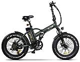 giordanoshop Green, Icon.e - Bicicleta eléctrica Plegable AllRoad Plus 250 W Marines Unisex Adulto, no Talla
