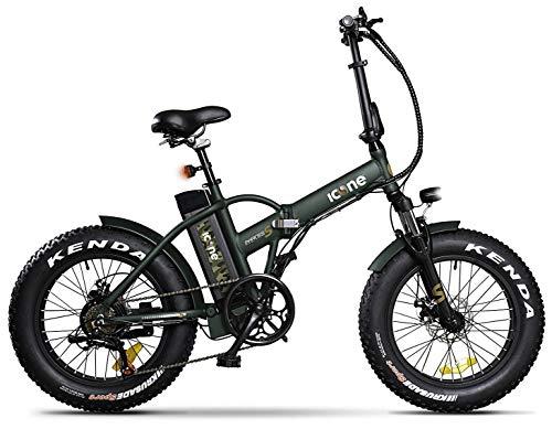 giordanoshop Green, Icon.e Bici Elettrica Pieghevole AllRoad Plus 250W Marines Unisex Adulto, No Size