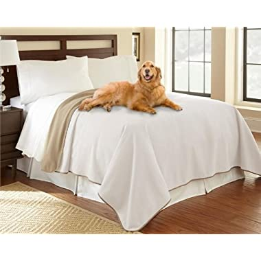 Mambe 100% Waterproof Furniture Cover for Pets and People (King/Queen 90 x90 , Buff-Camel)
