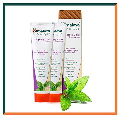 Himalaya Botanique Toothpaste - Natürliche Zahnpasta ohne Fluorid, SLS, Gluten & Carrageenan - Entfernt Plaque, Mundgeruch, verhindert Karies und Zahnfleischbluten (Simply SPEARMINT, 2-Pack SAVER)