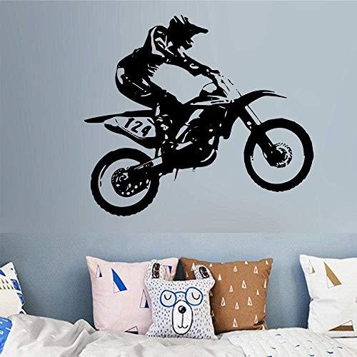 Pegatinas de pared de bricolaje pegatinas de personalidad creativa todoterreno accesorios de la casa de la motocicleta pegatinas de arte de pared 60x82cm