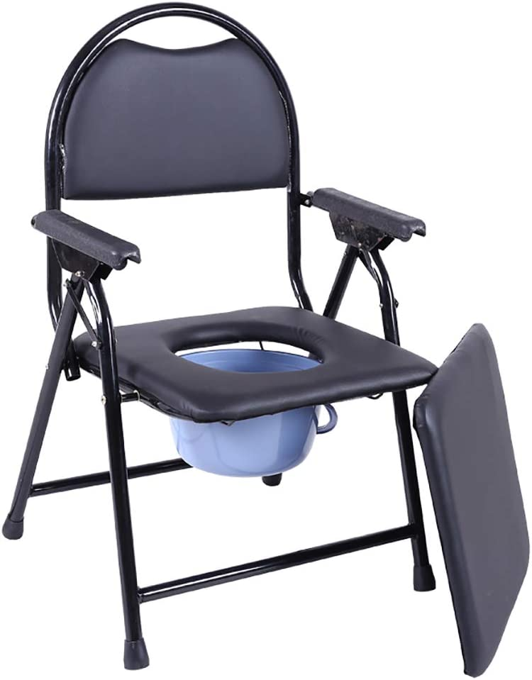 Medical Bedside Commode Chair with Shower お気に入 Seat 直送商品 C Folding Padded