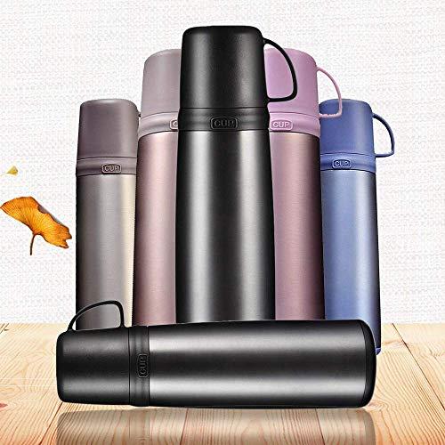 SEESEE.U Isolierte Wasserflasche Double Wall Vacuum Edelstahlflasche Auslaufsicher Hält Heiße und Kalte Getränke, 500 ML Getränkeflasche Geburtstag Weihnachten Neujahrsgeschenk für Jungen
