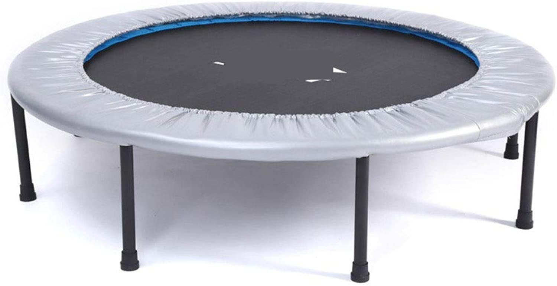 Amio Sporttrampolin Klapptrampolin Fitness Trampolin Fitnessgerte für Erwachsene Indoor Trampolin Sport Bounce Bed (grau)