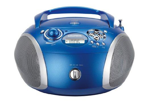 Grundig RCD 1445 Radio (USB 2.0) mit CD/-MP3/-WMA Wiedergabe blau/silber
