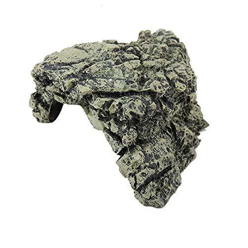Pssopp Cueva de escondite de Peces, Acuario, paisajismo, Tortuga, Reptil, Cueva de escondite para Reptiles, terrario, lagartos, Tortugas, Peces(DB-025B Zhongguidong, 12)