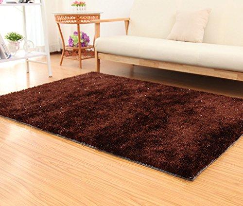 Di Dani Raum Couchtisch Wohnzimmer Schlafzimmer Teppichgeschäft für japanische und koreanische Art 120 × 170cm (Farbe : Dunkelbraun)