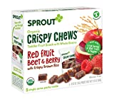 Sprout Organic Crispy Chews Toddler Snacks, Red Fruit Beet & Berry, 0.63 Ounce Single Serve Packets...