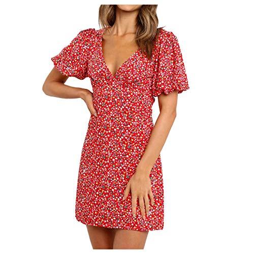 Nouvelle Robe décontractée d'été 2021 à Manches Courtes imprimée pour Femme Shirt Femme Sexy Femme Manche Courte Chemise Gilet sans Manches Top Femme Manche Longue Robe éTé Femme Casual Top Col Rond
