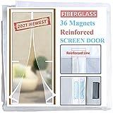 Best Magnetic Screen Doors - Magnetic Screen Door with 36 Longer Magnets,Upgraded Reinforced Review