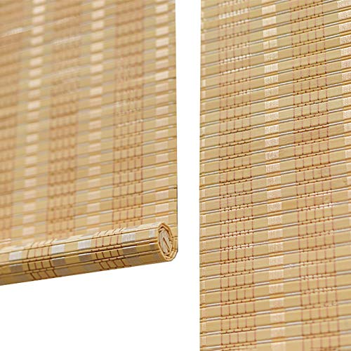 Seitenzug Springrollos 85% Shading Rolläden Bambus Roller Fenster Shades Trennwand für Terrasse, Rasen & Garten, Grösse Individuelle (Farbe : Hook up, größe : 50X120cm)