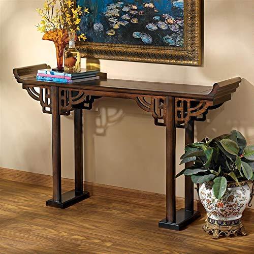 Design Toscano Forbidden City Asian Console Table, Walnut