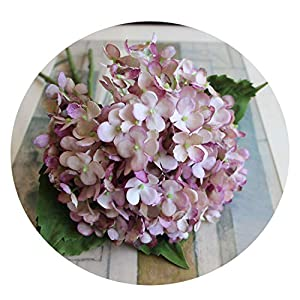 7 Colours 1Bunch/3Pcs Artificial Flower Fake Snowball Bouquet Christmas Wedding Arrangement Home Decoration Pink