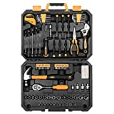 DEKO Juegos de Herramienta de 128 piezas - Caja de Herramienta para Hogar,maletin de herramientas profesional para reparación de automóviles, con una caja de Plástico
