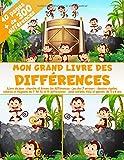 Mon Grand Livre des Différences - 40 pages, + de 300 différences - Livre de jeux : cherche et trouve les différences - Jeu des 7 erreurs - Dessins ... - pour enfants, fille et garçon, de 5 à 8 ans