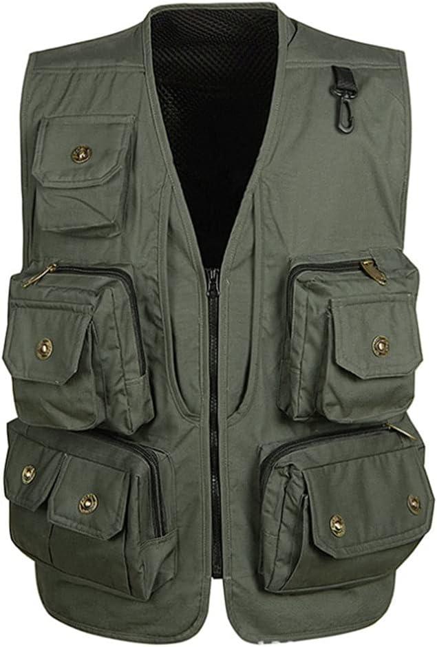 HYFDGV trend rank Fishing Vests for Men Casual Ja Vest Multi-Pocket Max 48% OFF