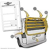 Lackschutzshop Lackschutz-Folie für Fahrrad-Heckträger von VW T5 Multivan, Caravelle Baujahr 2003 bis 2015 - Selbstklebende, transparente Schutzfolie