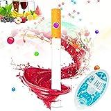 Fangteke 100 Piezas de Filtros de Cigarrillos de Menta Cápsulas de Aroma de Mentol Cuentas de Explosión de Bricolaje Cápsula de Bola Filtro de Cigarrillo