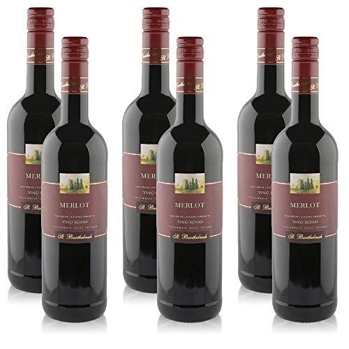 6 Flaschen Rotwein Merlot Trevenezie Vino Rosso IGP, trocken (6x 0,75 l)