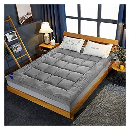 YXIAOL Futon Mattress Double Single, Japanese Floor Mattress, Tatami Sleeping Mat, Dorm Mattress, Foldable Roll Mattress, Variety Of Options,Gray-150x200cm(59.05x78.74 in)