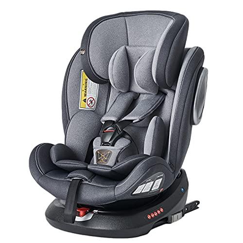Impetus チャイルドシート 回転式 新生儿~12歳頃対象 ISOFIX対応 シートベルト固定 日本企業販売 (一年保証)