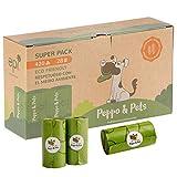 Peppo and Pets- 420 Bolsas Caca Perro -(28 Rollos) - Biodegradables- Muy...