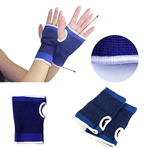 SDA Elastische Neopreen handsteun beschermer Brace - Geeft effectieve ondersteuning voor tandwielen en ondersteuning verwondingen (blauw) Small 4pair