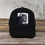 DXR Men's Animal Farm Baseball Trucker cap Quality Embroider Baseball Caps Men's Women's Universal Dad Hat,Black Panther,Adjustable