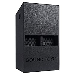 """small Sound Town 1400W 12 """"PA Active DJ Subwoofer, 2 Speaker Output, Fold Horn Design,…"""