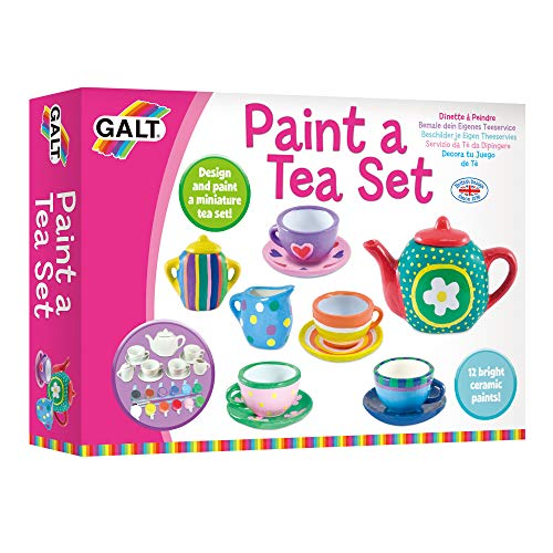 Galt Toys, Paint a Tea Set, Kids' Craft Kits, Ages 5 Years Plus