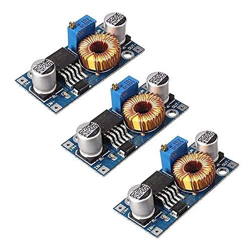 ICQUANZX 3pcs DC-DC 5A 5-32V a 0.8-24V Módulo regulador Reductor 12V / 24V / 32V a 3.3V / 5V / 12V / 24V Convertidor Reductor regulador de Voltaje de Gran Potencia