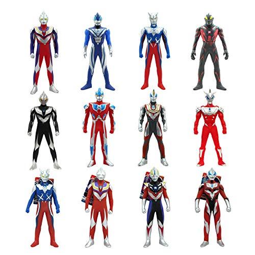 XINKANG Ultraman Spielzeug 12pcs/Set 14-23cm Soft Rubber Monster Ultraman Spielzeug Eitega Mora Obi Aike Ultraman Schulter Gelenk Taille Abnehmbare Superman Monster Modellierung