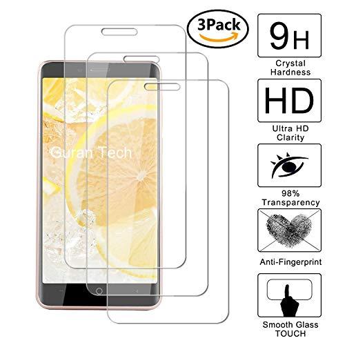 Guran® [3 Stück Displayschutz Glasfolie für Leagoo KIICAA Power 3G/ Elite 5 Lite Smartphone Hartglas Schutzfolie Film Kompatibel Panzerglasfolie